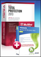 McAfee TotalProtection 2013 + Backup & Recovery 2013 Plus Edition for free
