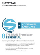 SYSTRAN 8 Translator Essential - Additional Language Pair - Deutsch <> Englisch