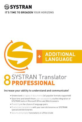 SYSTRAN 8 Translator Professional - Additional Language Pair - Deutsch <> Französisch