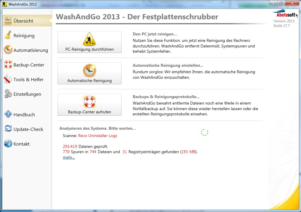 WashAndGO 2013 screenshot 4