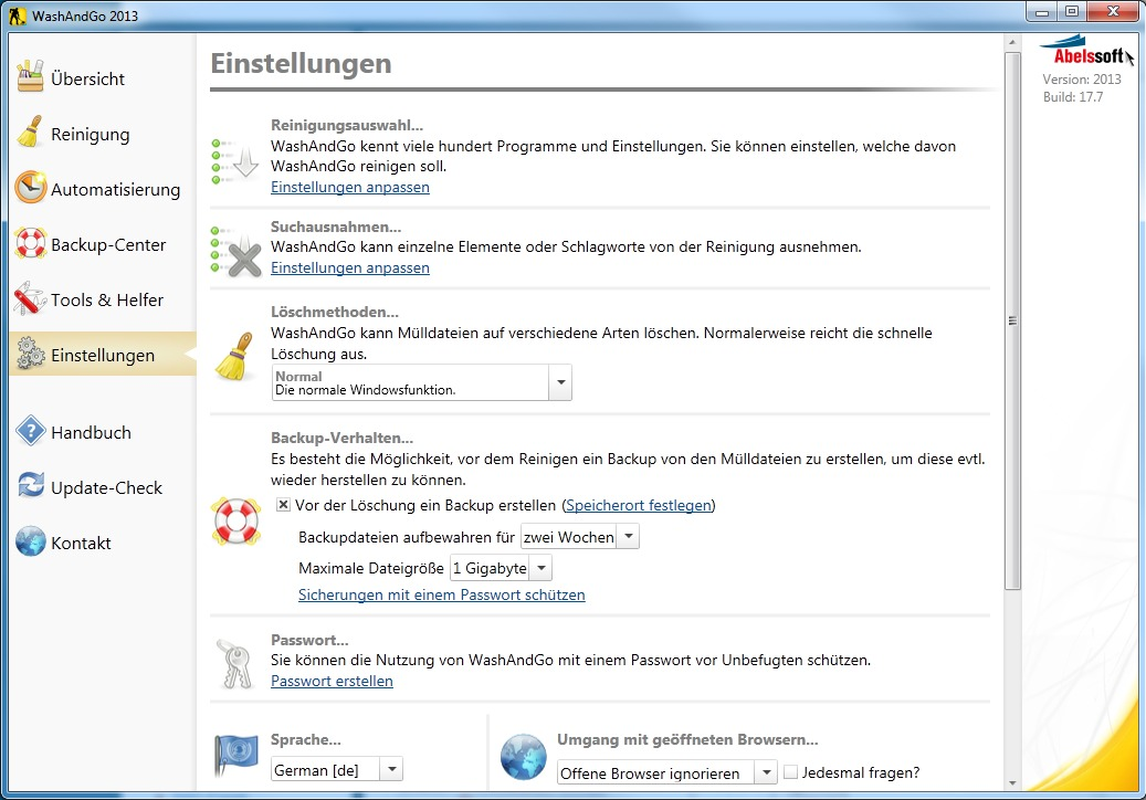 WashAndGO 2013 screenshot 5