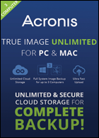 Acronis True Image Unlimited for PC and Mac