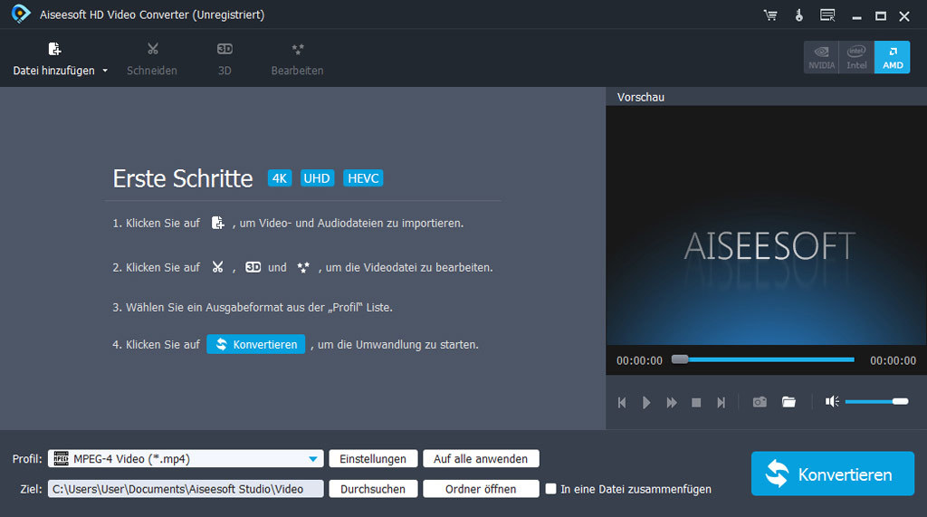 Aiseesoft HD Video Converter für PC - 2018 screenshot 1