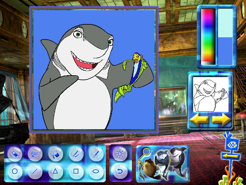 Shark Tale Paint & Create screenshot 4