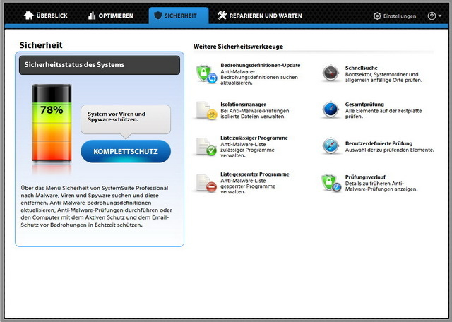 Fix-It Utilities 12 Professional screenshot 1