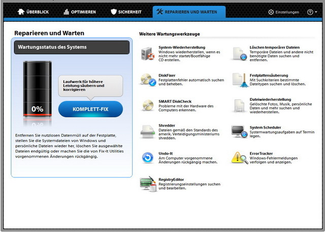 Fix-It Utilities 12 Professional screenshot 3
