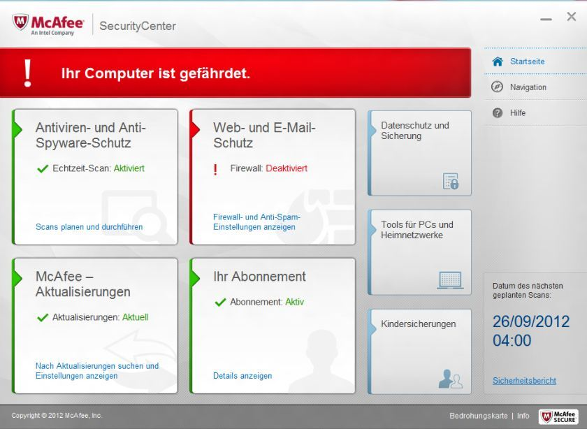 McAfee Internet Security 2013 screenshot 3