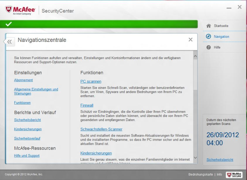 McAfee Internet Security 2013 screenshot 4
