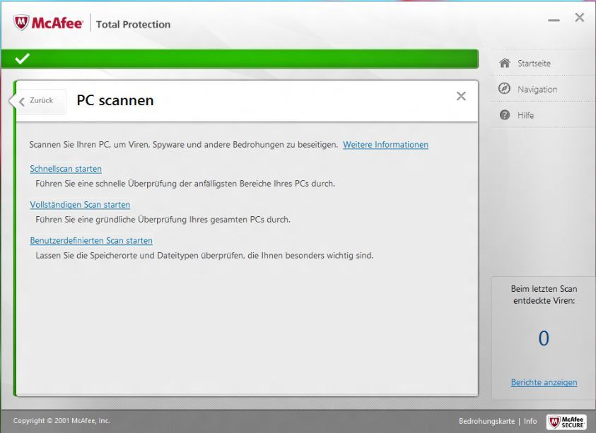 McAfee TotalProtection 2013 screenshot 1
