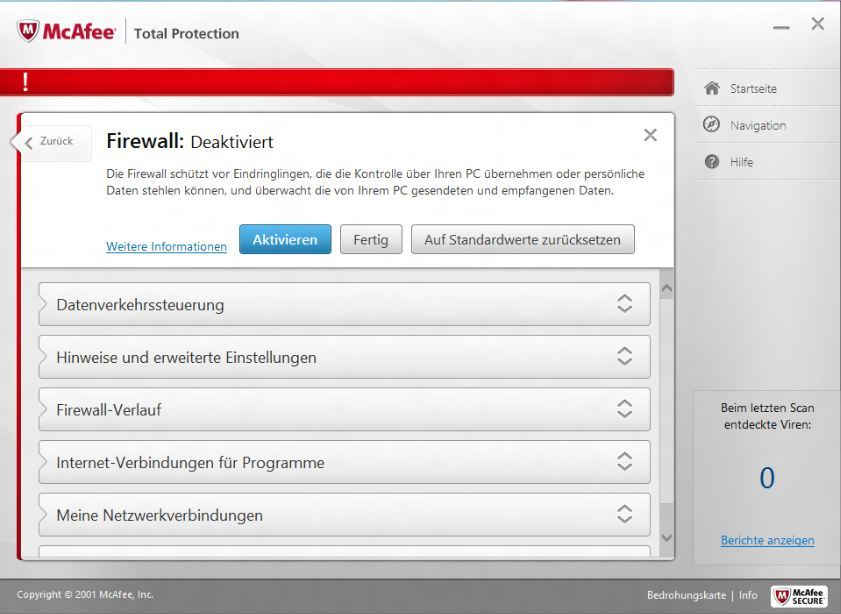 McAfee TotalProtection 2013 screenshot 3