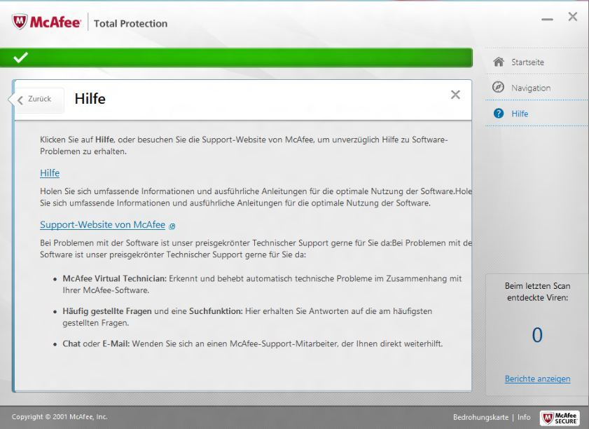 McAfee TotalProtection 2013 screenshot 4