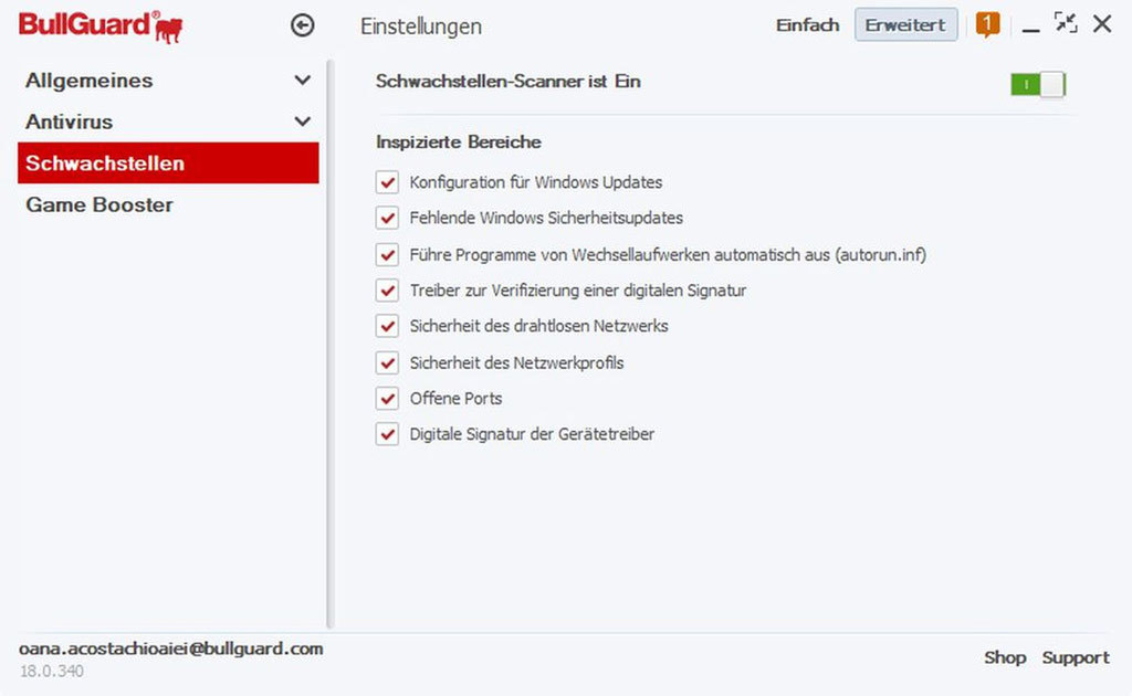 Bullguard Antivirus 2018 - 1 Jahr 1 PC screenshot 3