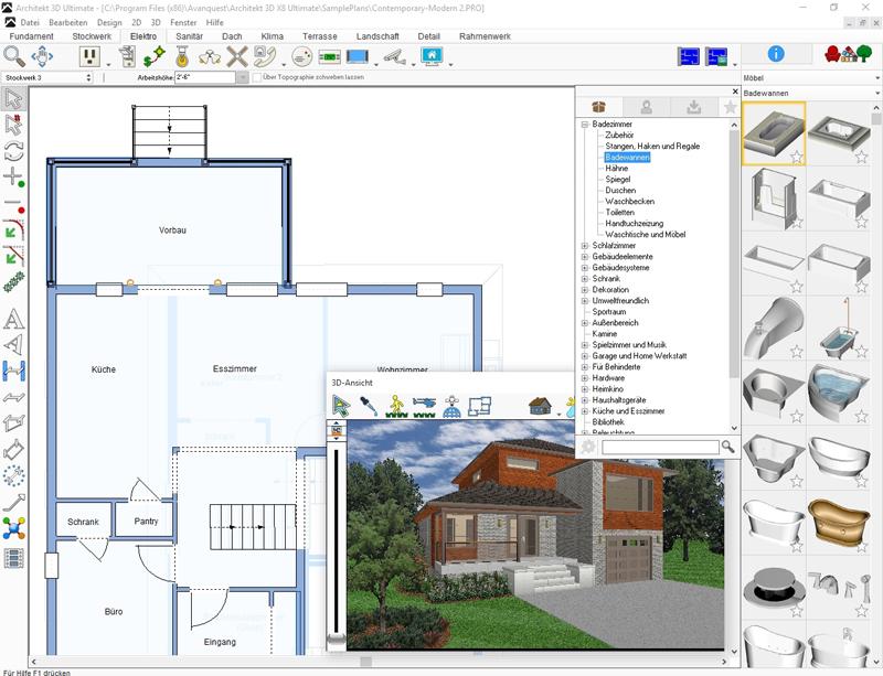 architekt 3d x8 ultimate. Black Bedroom Furniture Sets. Home Design Ideas