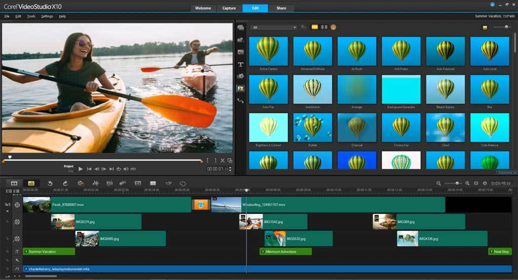 VideoStudio Ultimate X10 screenshot 3