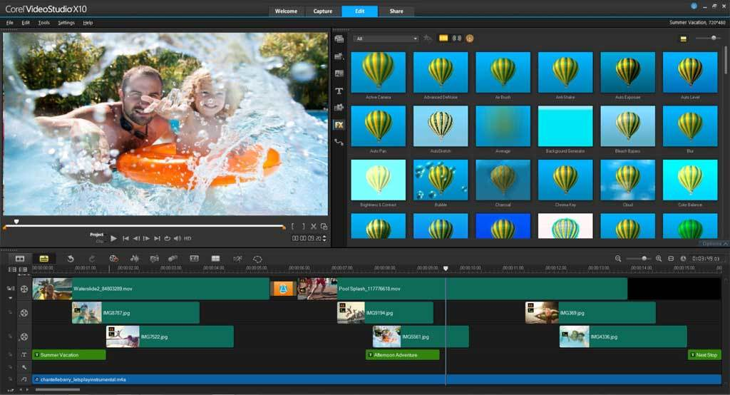 VideoStudio Ultimate X10 screenshot 4