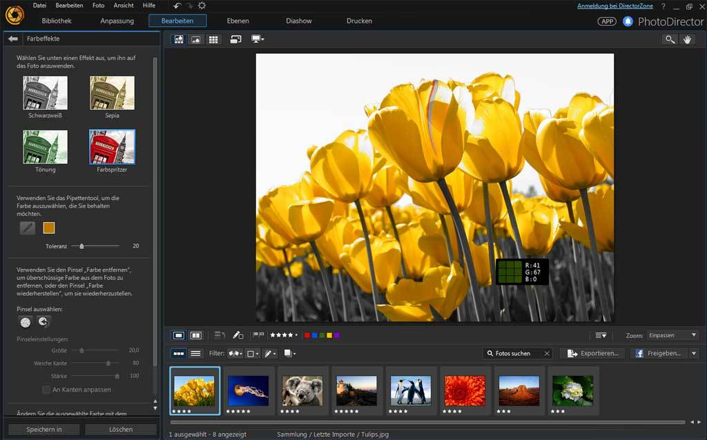 PhotoDirector 8.0 Deluxe screenshot 1