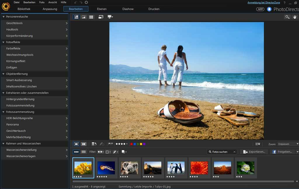 PhotoDirector 8.0 Deluxe screenshot 3