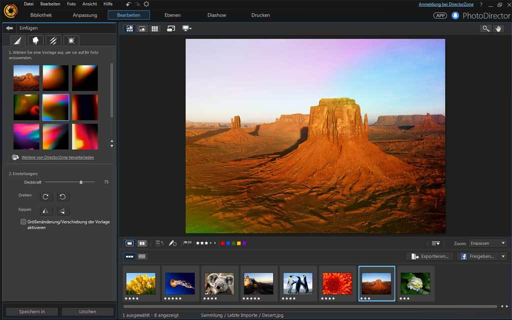 PhotoDirector 8.0 Deluxe screenshot 7