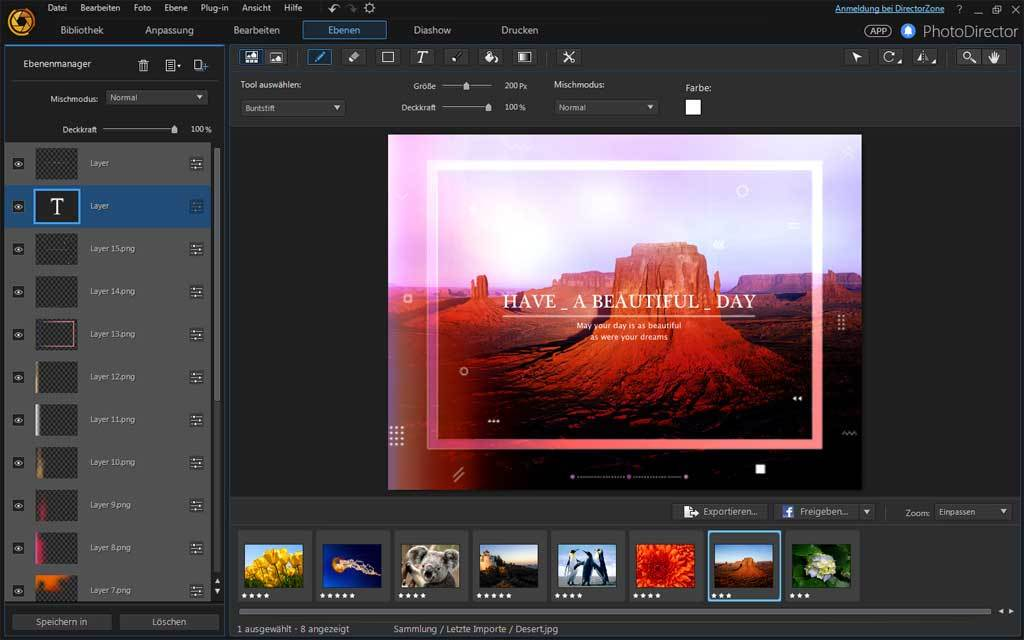 PhotoDirector 8.0 Ultra - Windows screenshot 4