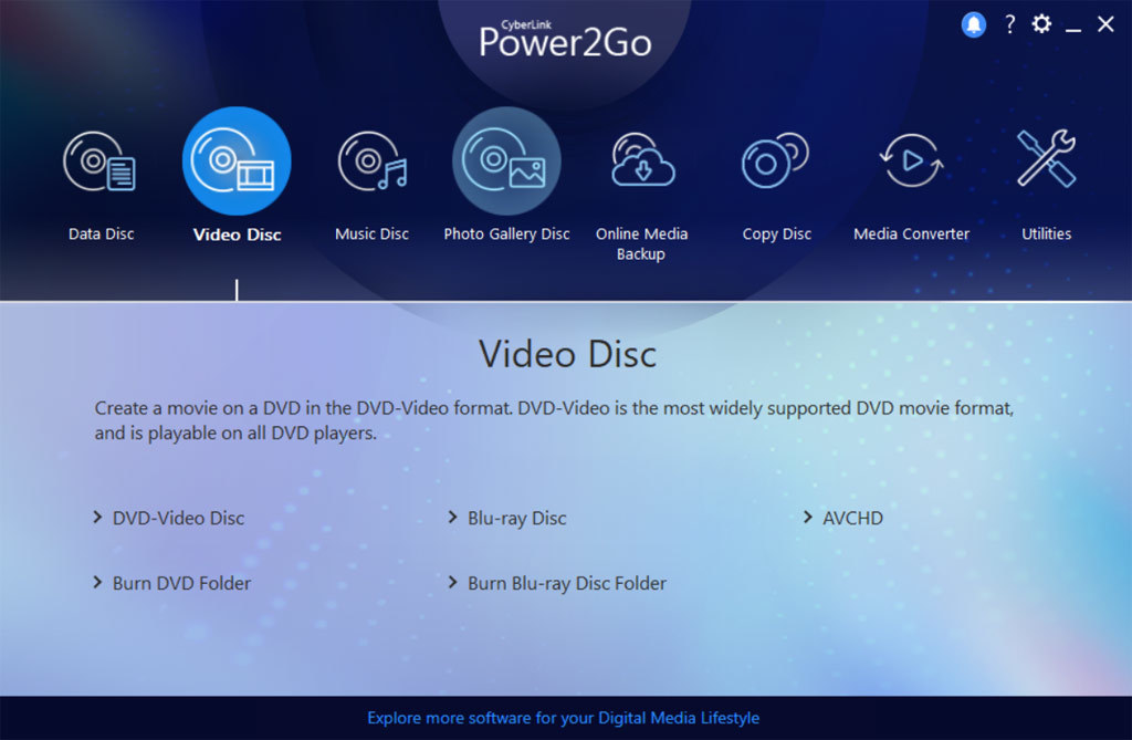 Power2Go 12 Platinum screenshot 2