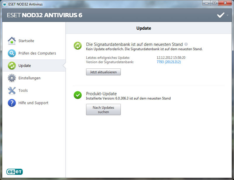 ESET NOD32 Antivirus V6 screenshot 1