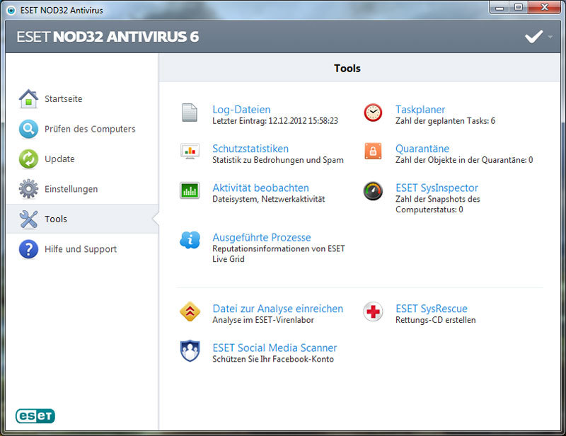 ESET NOD32 Antivirus V6 screenshot 2