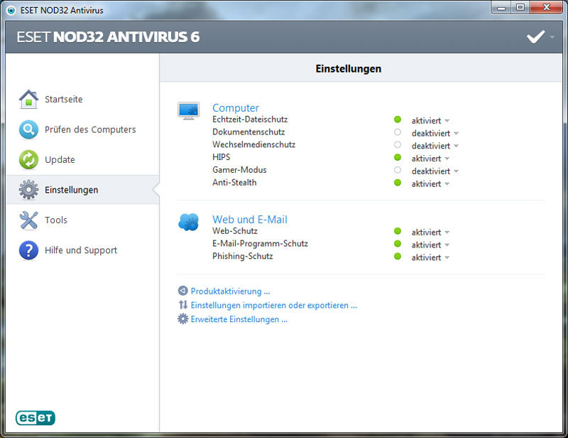 ESET NOD32 Antivirus V6 screenshot 5