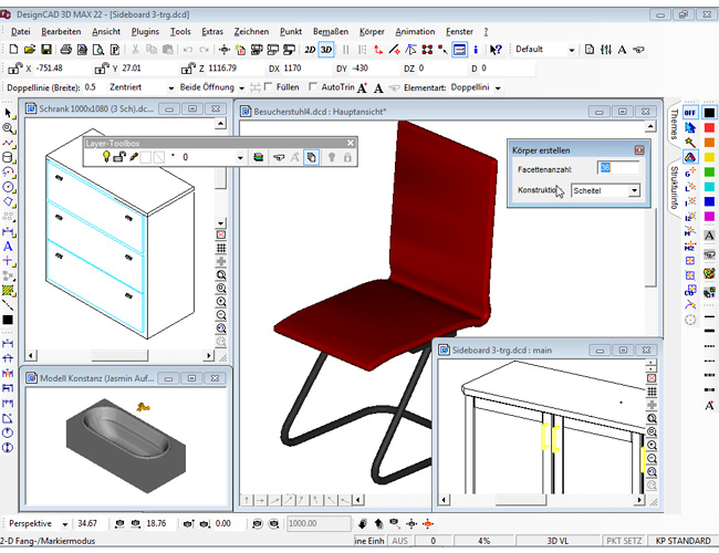 3D design CAD MAX V22 screenshot 7