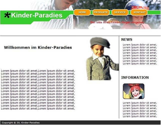 Professionelle Homepage-Vorlagen screenshot 1
