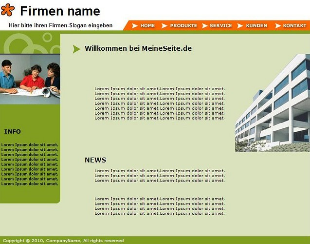 Professionelle Homepage-Vorlagen screenshot 9