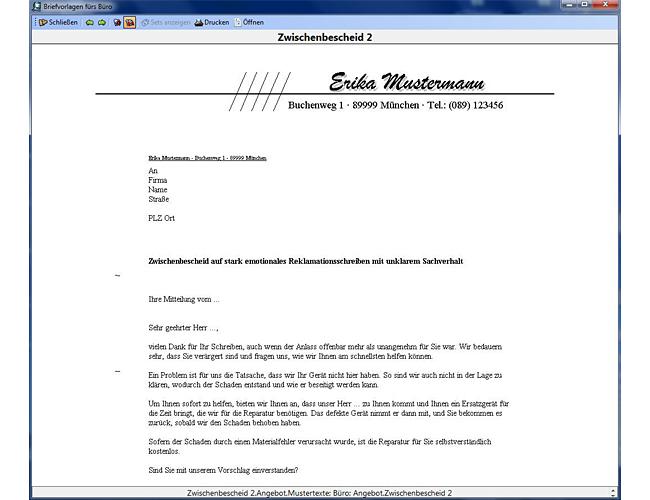 Quick Easy Briefvorlagen