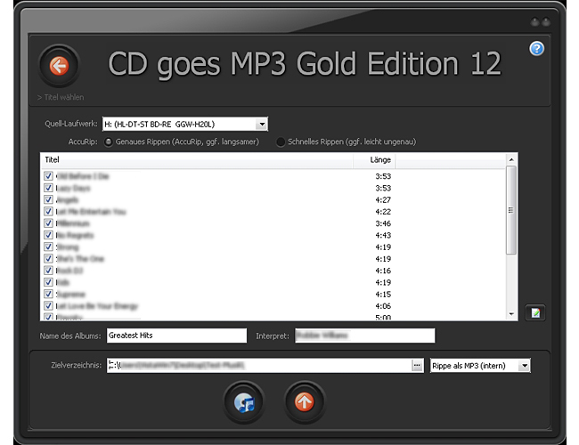 CD goes MP3 Gold Edition 12 screenshot 6