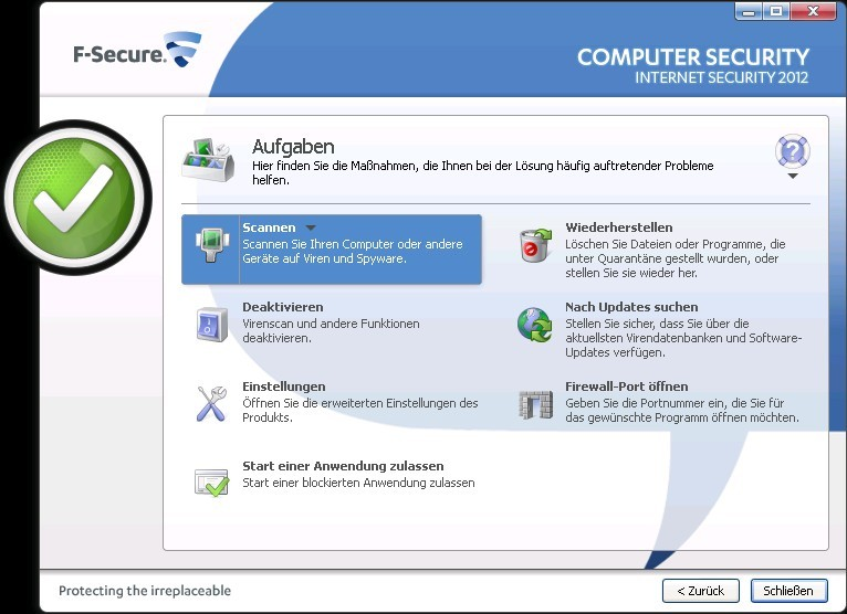 Internet Security 2012 - 1 Jahr 1 PC screenshot 1