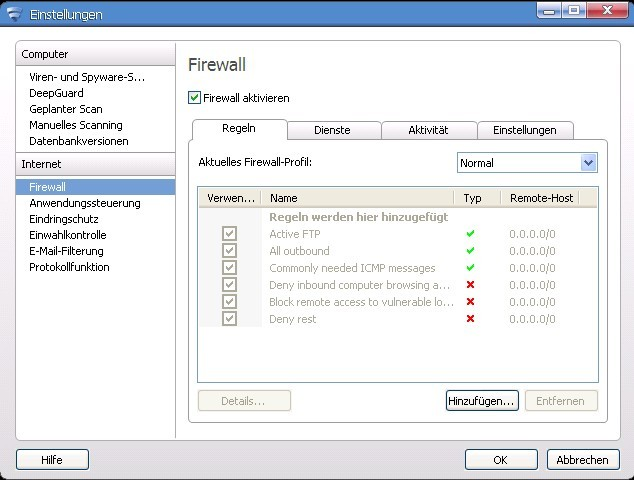 Internet Security 2012 - 1 Jahr 1 PC screenshot 3