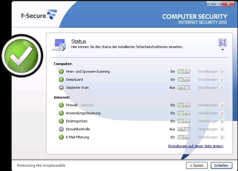 Internet Security 2012 - 1 Jahr 1 PC screenshot 7