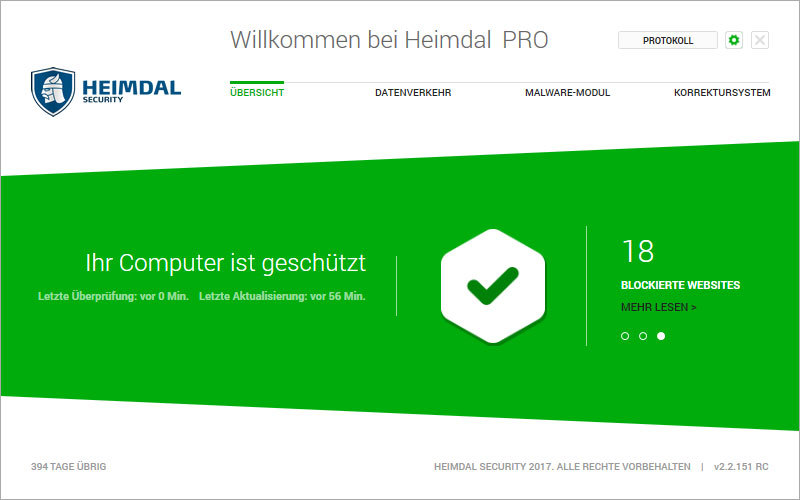 Heimdal PRO Family Edition screenshot 1