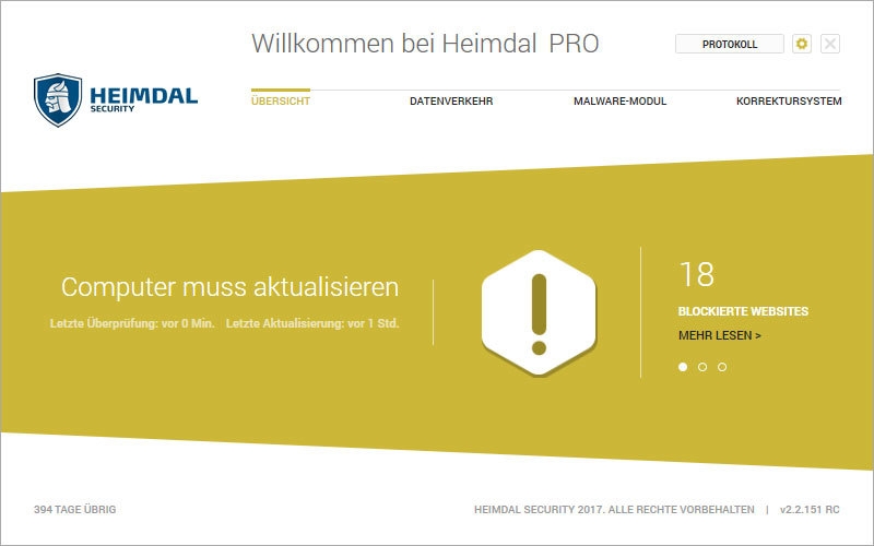 Heimdal PRO Family Edition screenshot 2