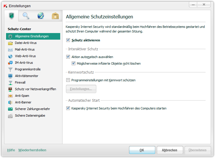 Kaspersky Internet Security 2013 screenshot 1