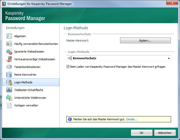 Kaspersky Password Manager 5.0 screenshot 1