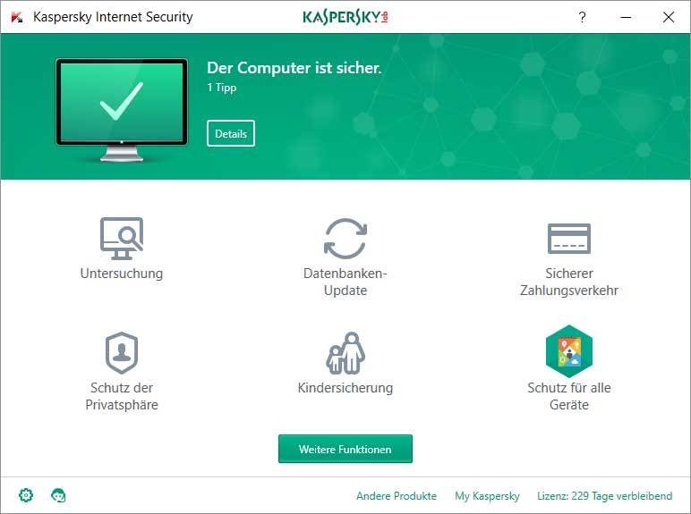 Kaspersky Internet Security + Kaspersky Internet Security für Android screenshot 1