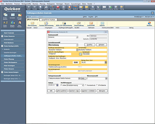 Quicken 2012 Jubiläumsversion Erstversion (Quicken 2012 + GData IS) screenshot 2