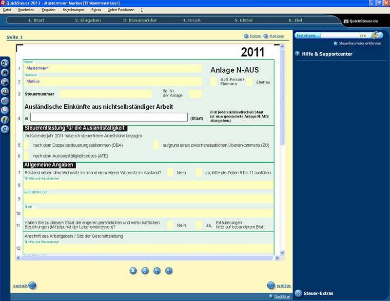 QuickSteuer 2013 screenshot 4