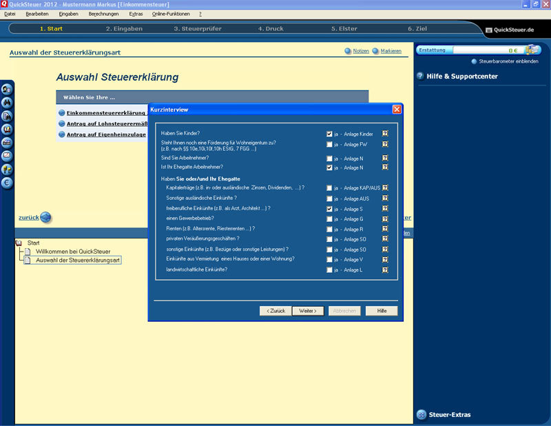 QuickSteuer 2013 screenshot 9