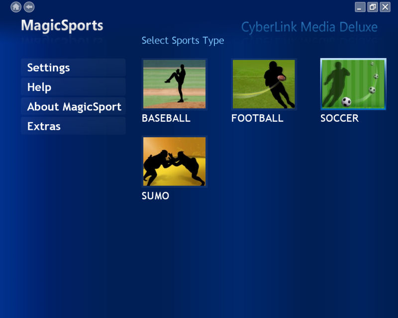 CyberLink MagicSports 4 screenshot 1