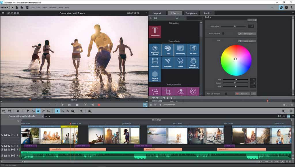 MAGIX Video Deluxe 2018 screenshot 1