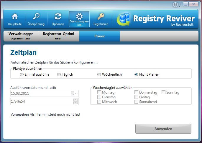 Registry Reviver screenshot 1