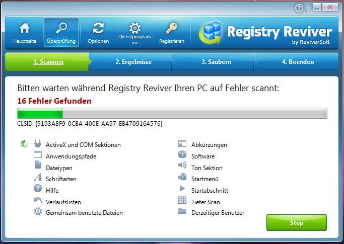 Registry Reviver screenshot 2
