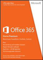 Microsoft Office 365 Home Premium - Subscription 1 year