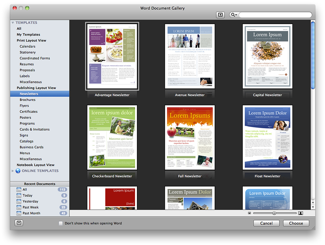 Microsoft Office Mac Home Business 2011 - Download - 1Mac screenshot 7