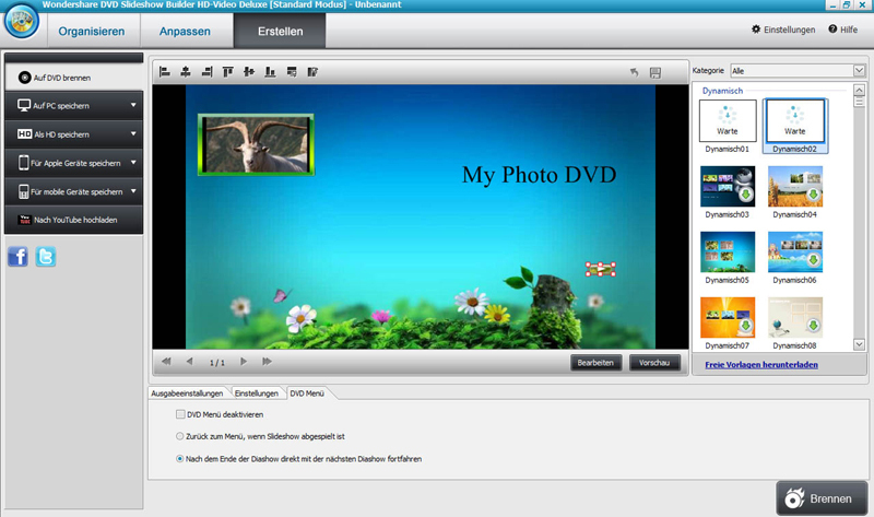 DVD Slideshow builder HD - Video Deluxe screenshot 1